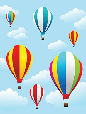 Katebackdrop:Kate Hot Air Balloon Blue Sky Backdrop Newborn
