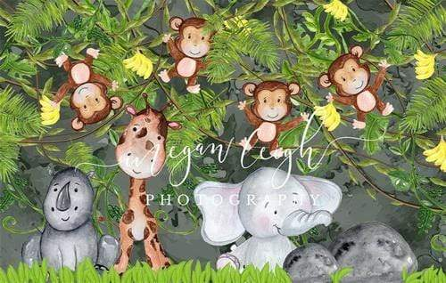 Katebackdrop£ºKate Animals in Jungle for Children Backdrop Designed by Megan Leigh Photography