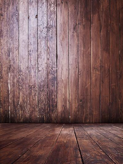 Katebackdrop:Kate Vintage Reddish Brown Wood And Floor Backdrop Photography