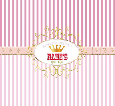 Katebackdrop:Kate Princess Banner Birthday Table Photography Backdrops Newborn Baby Pink Stripe