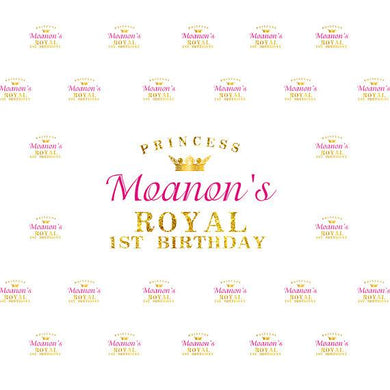 Katebackdrop:Kate Princess Royal Birthday Banner Photography Backdrops Custom Step and Repeat