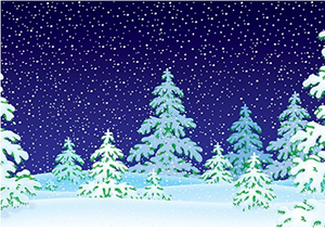 Katebackdrop:Kate Christmas Blue Sky Snow Tree Photography Backdrop