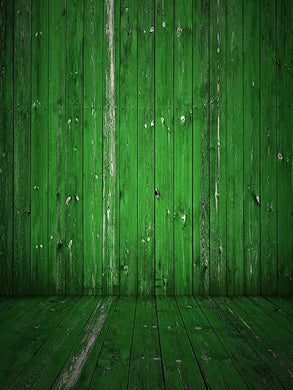 Katebackdrop:Kate Retro Style Green Wood Wall Photography Backdrops