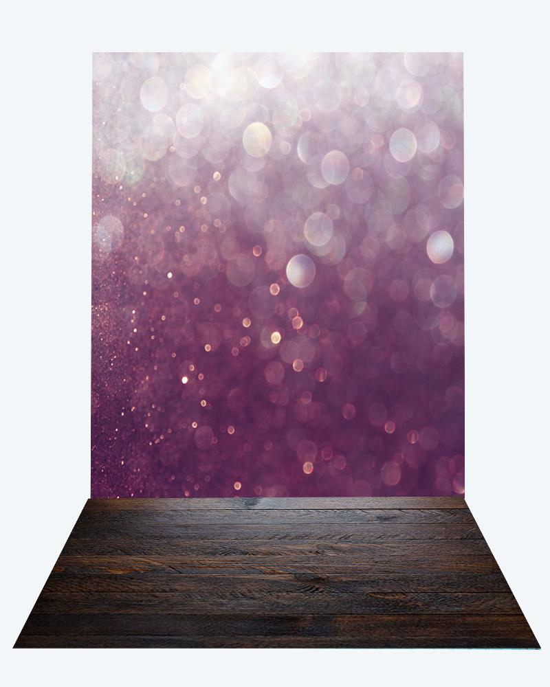 Katebackdrop:Kate Valentine Bokeh backdrop + dark wood floor mat