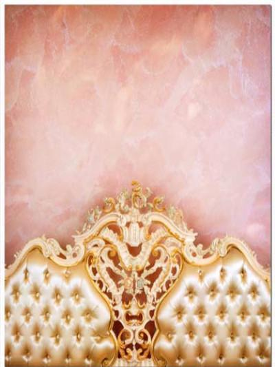 Katebackdrop:Kate Newborn Pink Wall Golden Headboard boudoir Backdrop