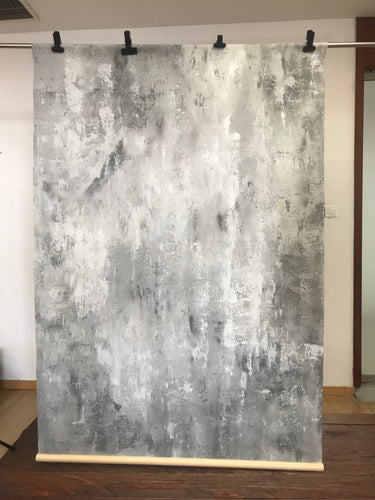 Kate handgemalte abstrakte Textur Bright Grey White Spray Backdrops