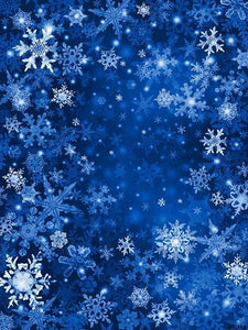 Katebackdrop:Kate Christmas Blue Snow Scenery Photography Backdrops