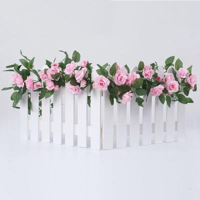 Laden Sie das Bild in den Galerie-Viewer, Katebackdrop:Rose flower rattan wall fake flower living room wedding decoration ceiling plastic flower Prop for photo