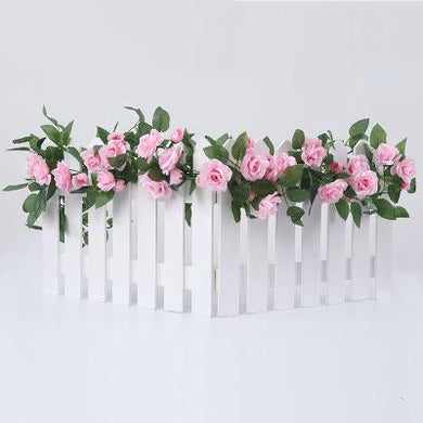 Katebackdrop:Rose flower rattan wall fake flower living room wedding decoration ceiling plastic flower Prop for photo