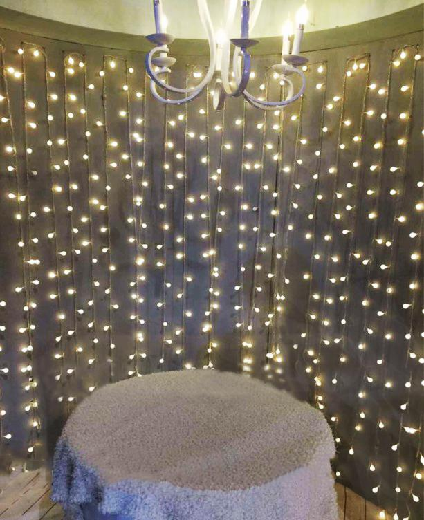 Katebackdrop:Creative wedding photography props night scene decorative LED string lights 2017