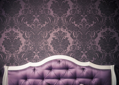 Katebackdrop:Purple Bed board and Wall for Photography