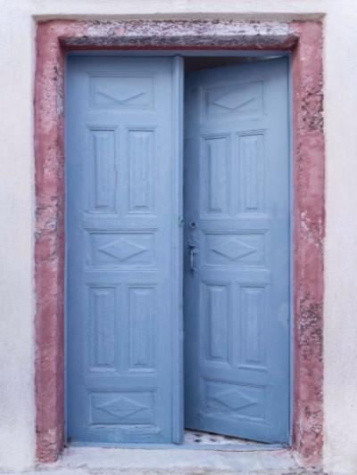 Katebackdrop:Kate Retro Style Red Blue Door Photography Backdrop