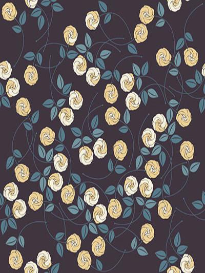 Katebackdrop:Kate Simple Black Wall With Yellow Flowers Backdrops