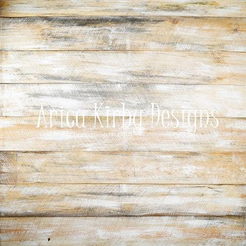 Kate White Washed Barn Wood Wall Backdrop von Arica Kirby entworfen