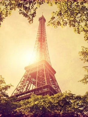 Katebackdrop:Kate Nature Backdrop Eiffel Tower Green Leaf Kids Backdrop