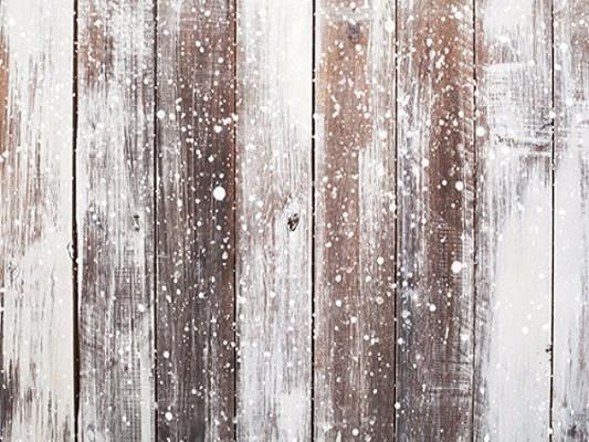Katebackdrop:Kate Winter Scenery Wood With Snow Christmas Backdrops