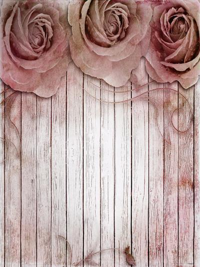 Katebackdrop:Kate Wooden Flower Backdrop For Photography Studio