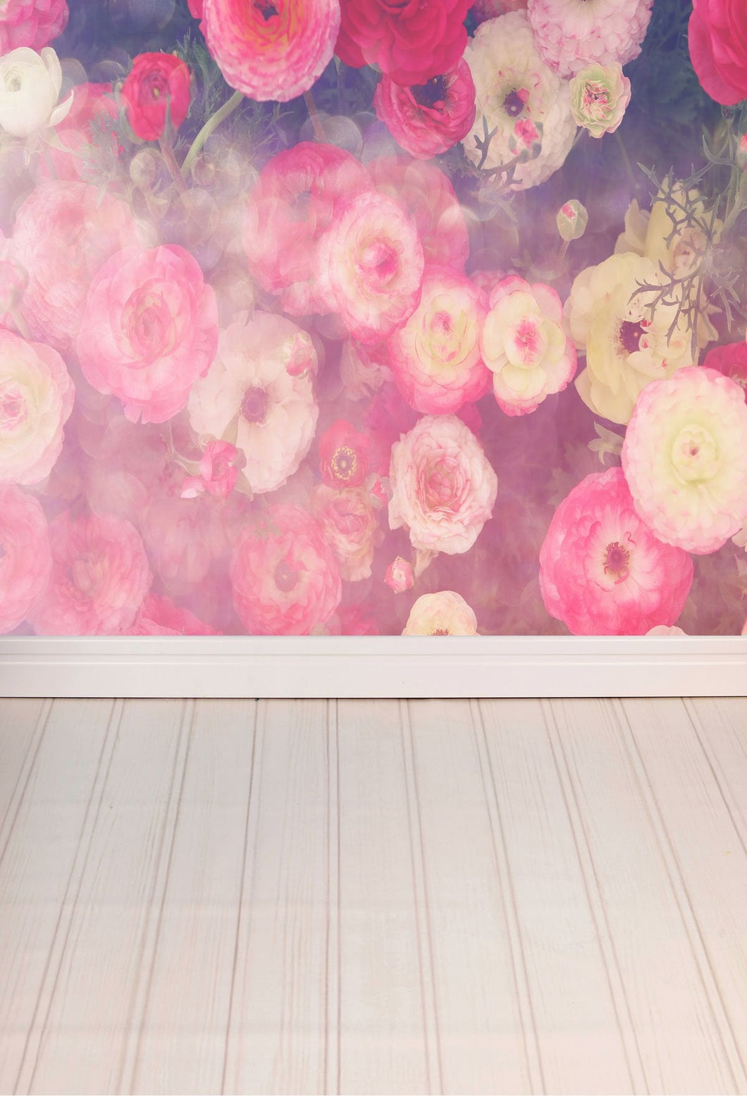 Katebackdrop:Kate Floral Walls Wooden Floor Backdrop for Photography