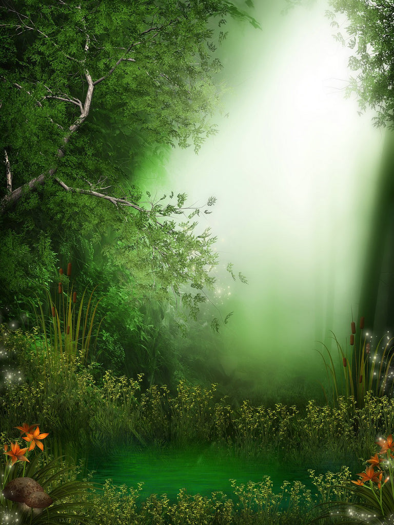 Katebackdrop:Kate Newborn Green Forest And Light Photography Backdrops