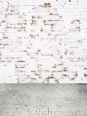Katebackdrop:Kate White Wall With Red Brick Photo Backdrop