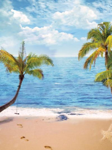 Katebackdrop£ºKate Sea Beach Holiday Summer Photo Coconut Trees Photography Backdrops
