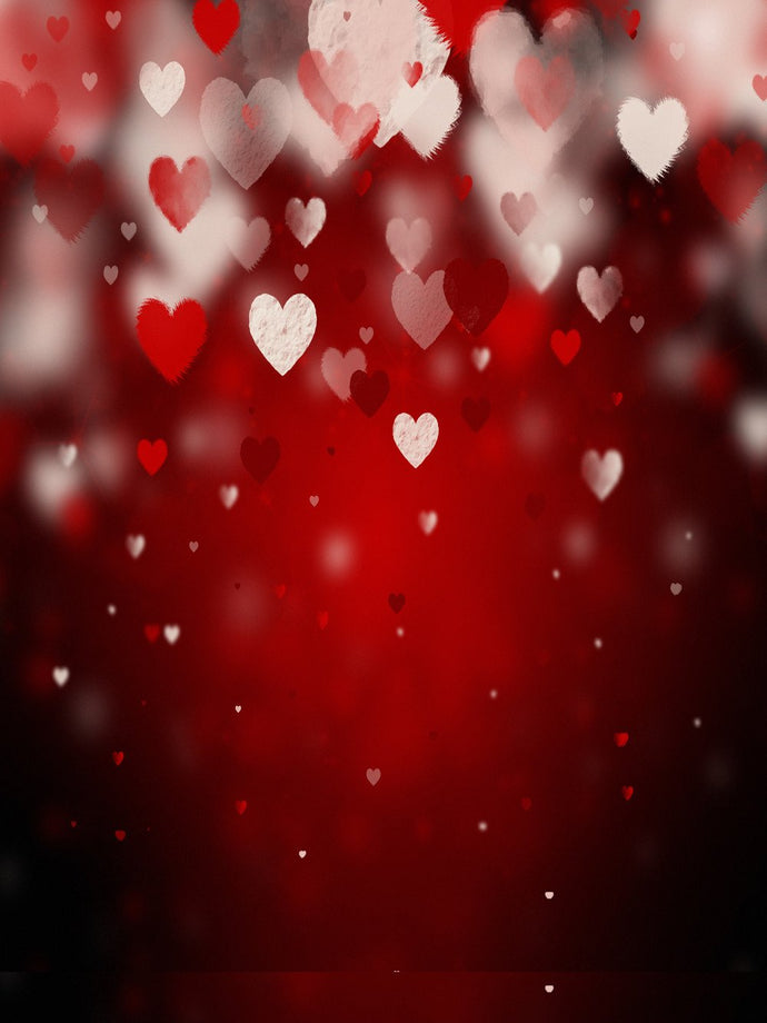 Katebackdrop:Kate Red Wall Customize Holiday Backdrops Romantic Heart-Shaped