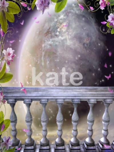 Katebackdrop:Kate Child'S Fairy Tale Moon Flowers Photography Backdrops