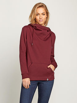 Volcom Walk On By Zip Fleece Hoodie