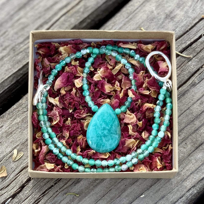 Ancient Element Creations Necklace Amazonite Necklace