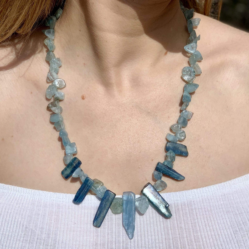 Ancient Element Creations Necklace Blue Kyanite Spears Necklace