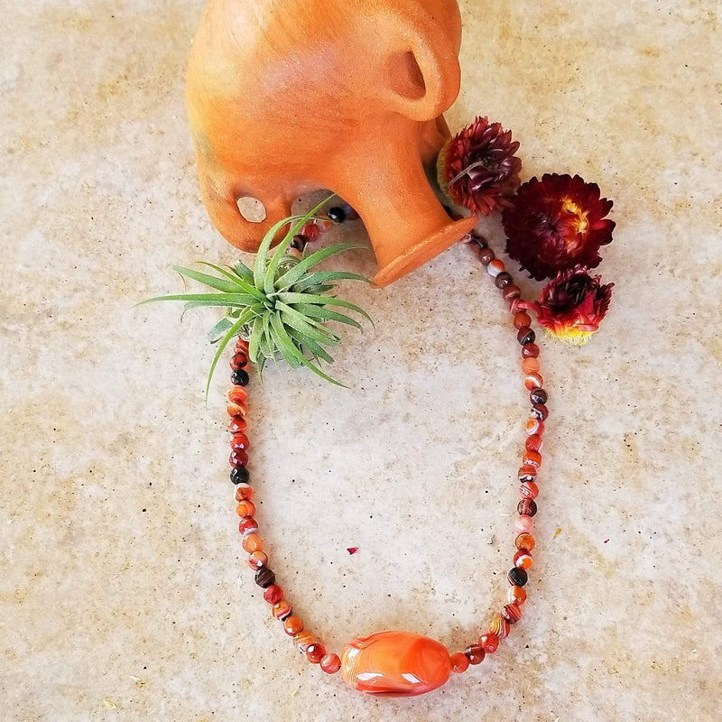 Ancient Element Creations Necklace Carnelian Necklace