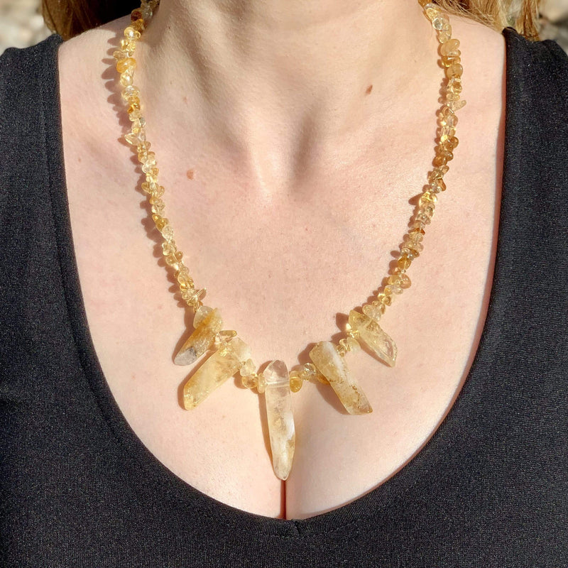 Ancient Element Creations Necklace Citrine Spears Necklace