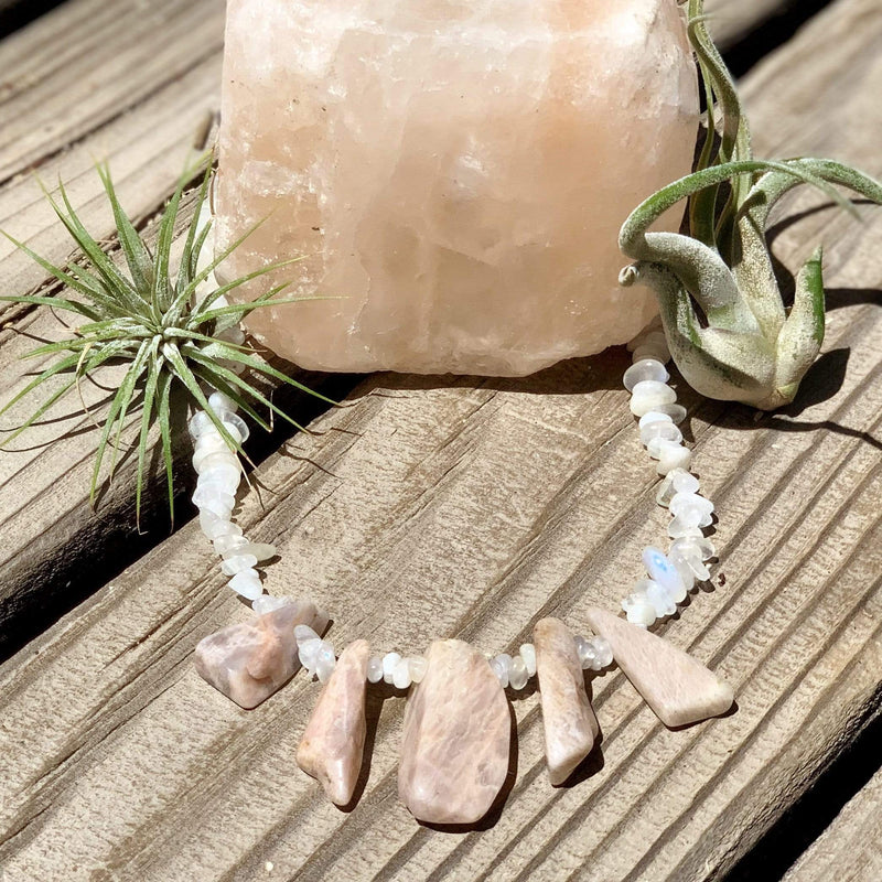 Ancient Element Creations Necklace Moonstone Spears Necklace