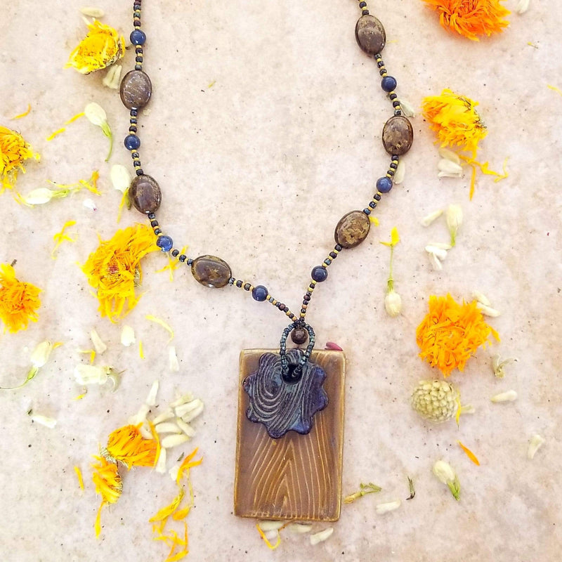 AncientElementCreations Necklace Water and Earth