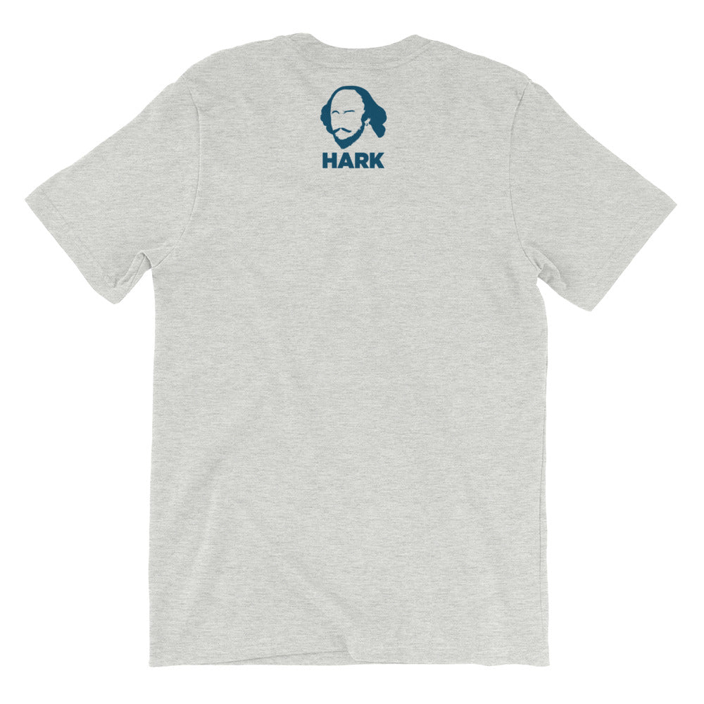 Shakespearean T with the Bard and HARK on the back - Bard Shirts