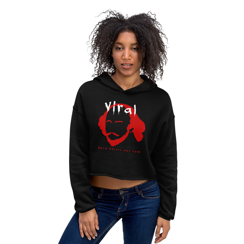 The Bard is Viral! Women's Crop Hoodie - Bard Shirts