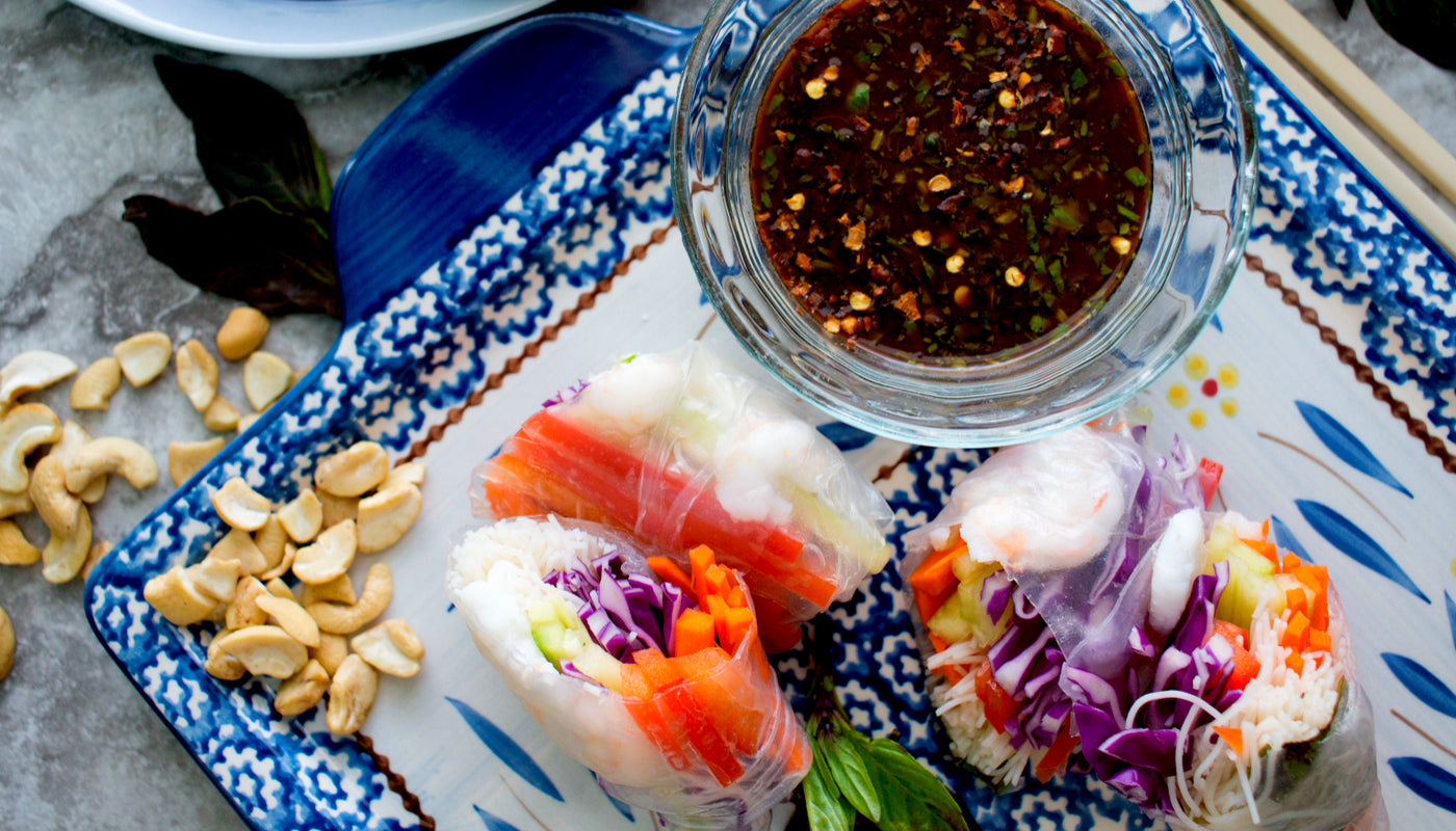 Spring Rolls with Tamarind Sauce Recipe