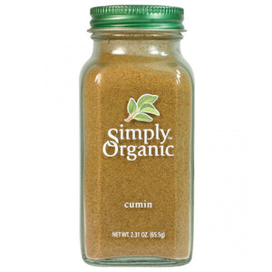 2.3 oz organic ground cumin spice. Used in Middle Eastern and Indian cooking, spices and dishes.