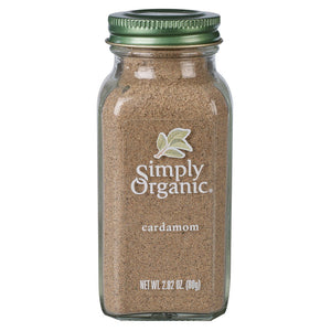 2.8oz organic ground cardamom spice. Adds spicy depth to Indian cooking, dishes and recipes.