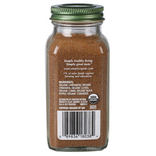 Nutritional value of 3oz organic ground garam masala spice. Perfect for Indian cooking, recipes & dishes.