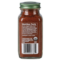 Nutritional value of 2.9oz organic ground paprika spice. Perfect for Indian cooking, recipes & dishes.
