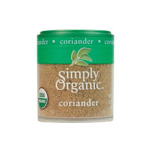0.35 oz pinch size portion of organic ground coriander spice. Perfect for Indian cooking, recipes & dishes.