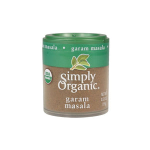 0.53oz pinch size portion of organic ground garam masala spice. Perfect for Indian cooking, recipes & dishes.