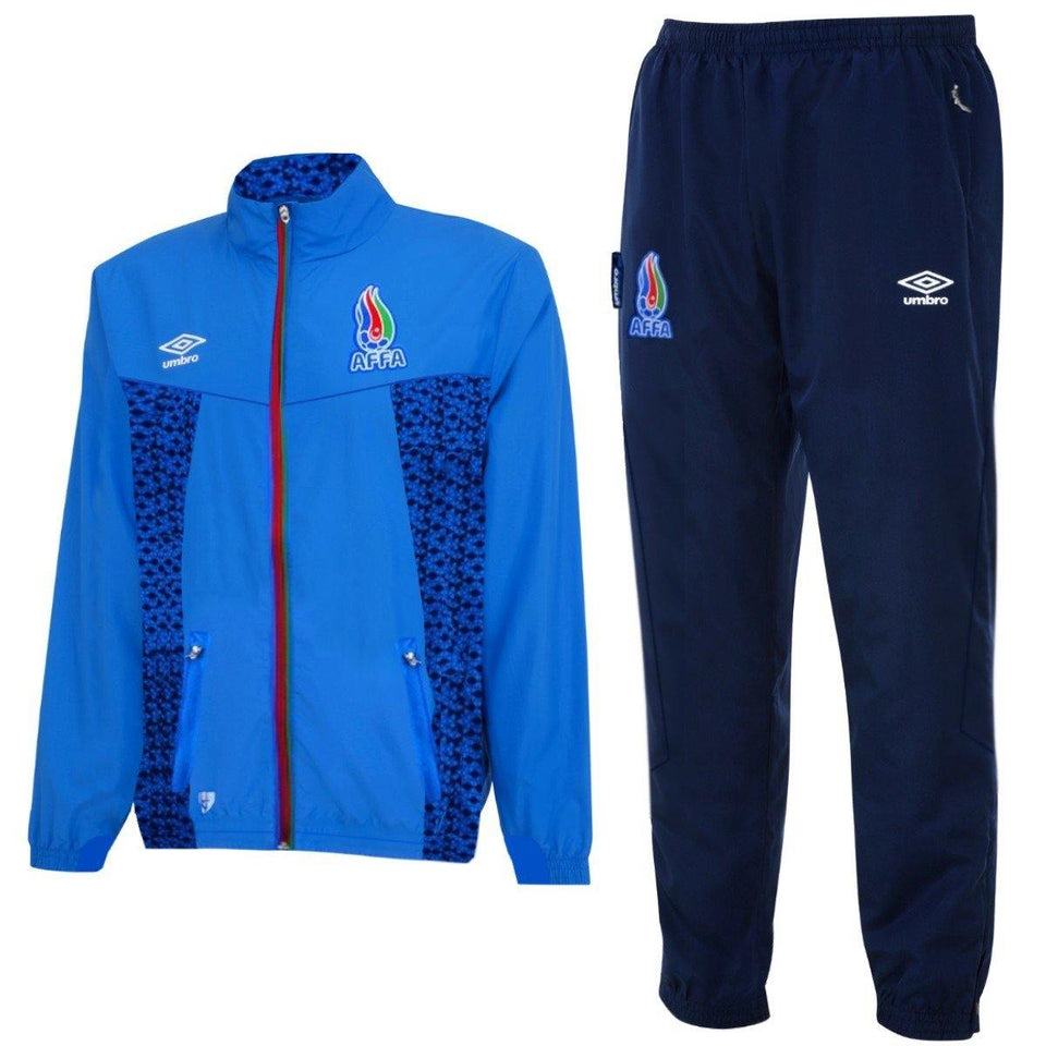 Azerbaijan National Team Training Presentation Soccer Tracksuit 2015/16 - Umbro - SoccerTracksuits.com
