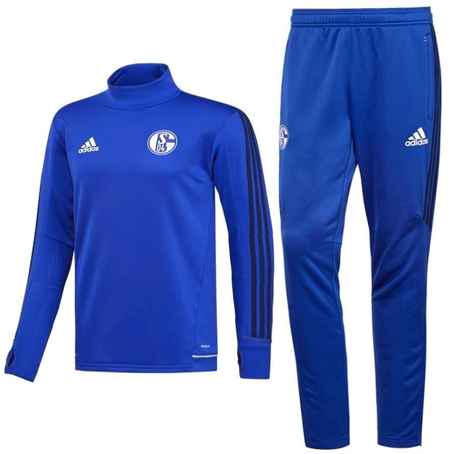 Schalke 04 Training Technical Soccer Tracksuit 2017/18 - Adidas - SoccerTracksuits.com