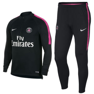 Paris Saint Germain Black Training Technical Soccer Tracksuit 2018/19 - Nike - SoccerTracksuits.com