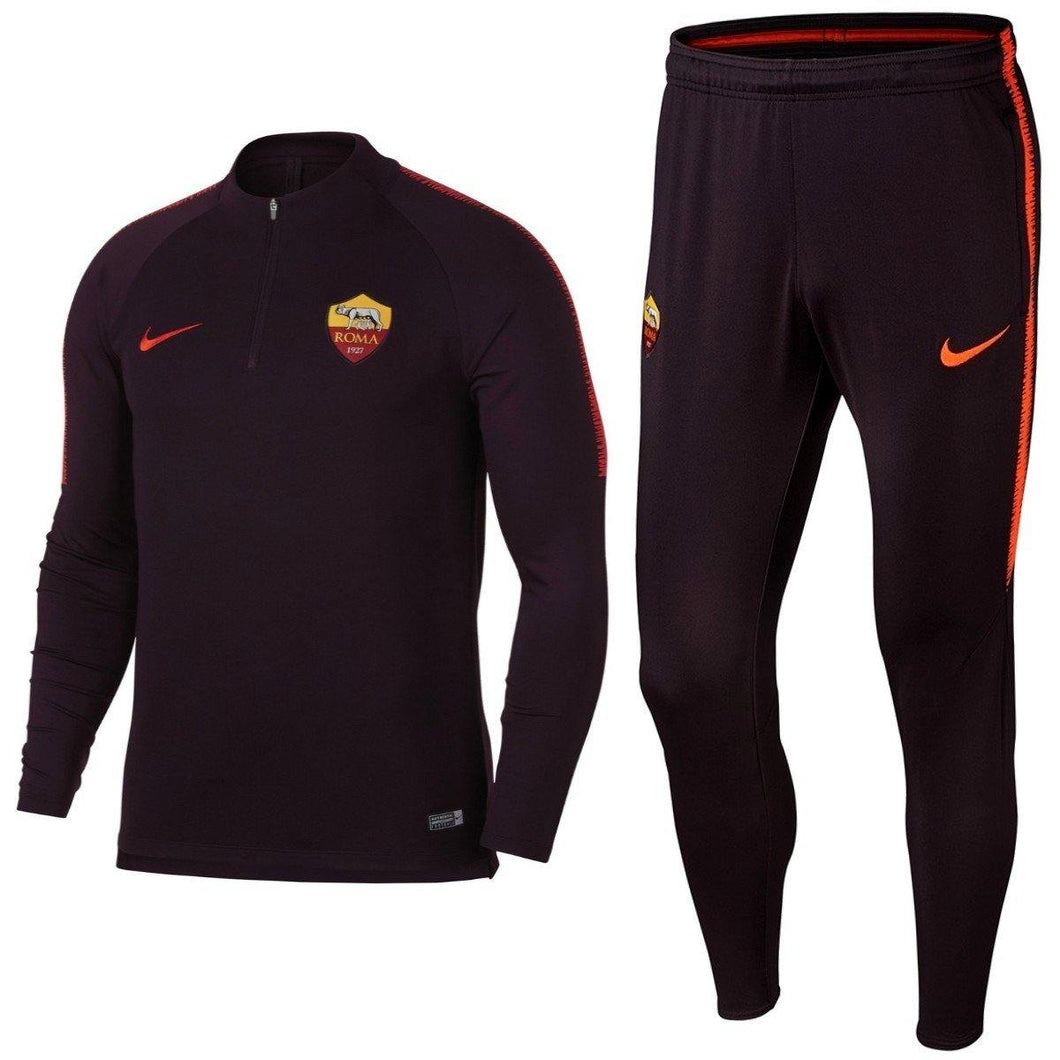 AS Roma Training Technical Soccer Tracksuit 2018/19 - Nike - SoccerTracksuits.com
