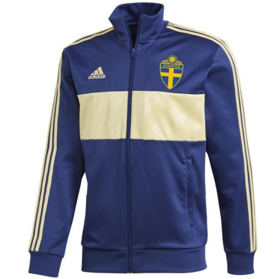 Sweden Casual Training Presentation Soccer Tracksuit 2018/19 - Adidas - SoccerTracksuits.com