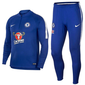Chelsea Fc Training Technical Soccer Tracksuit 2018/19 Blue - Nike - SoccerTracksuits.com