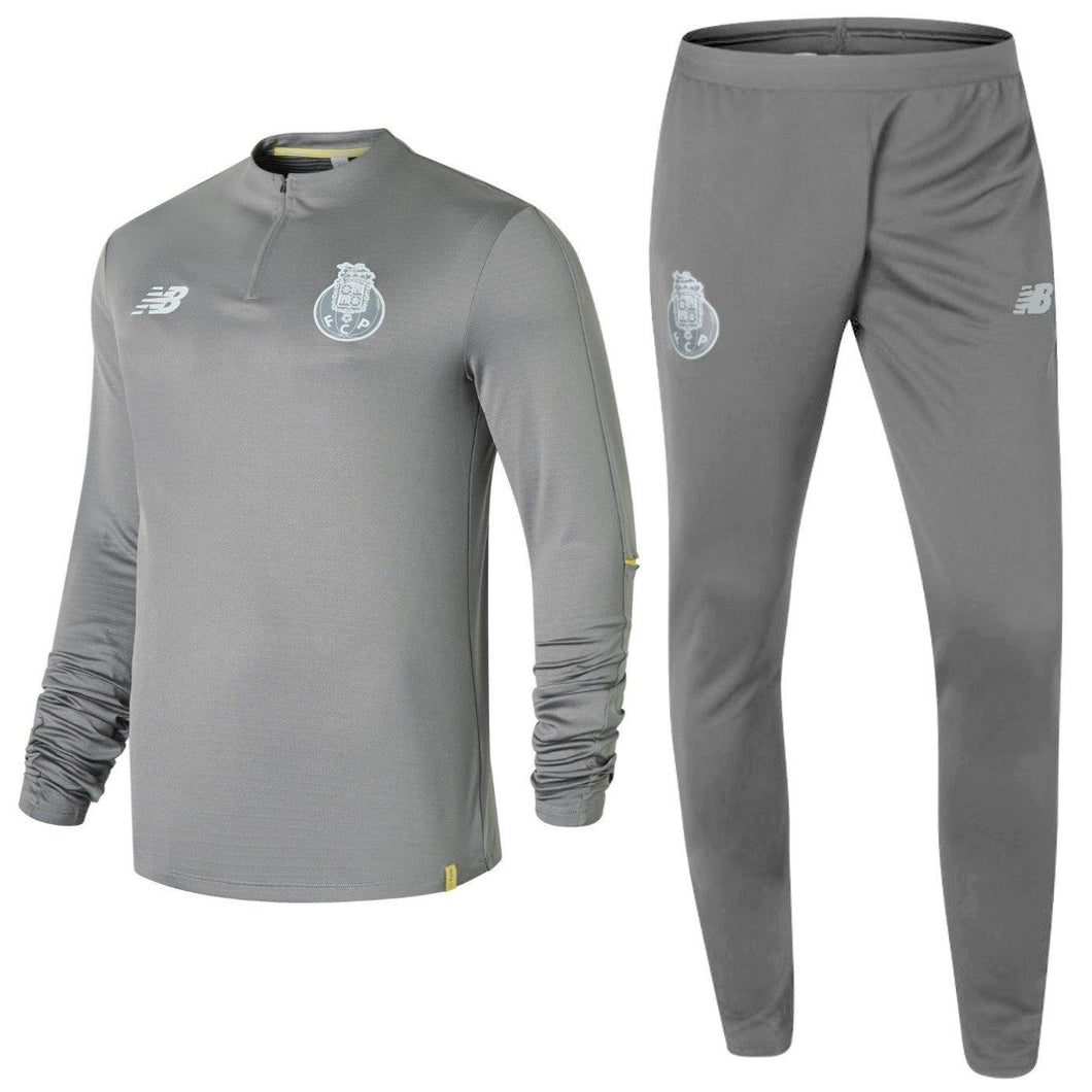 Fc Porto Grey Training Tech Soccer Tracksuit 2018/19 - New Balance - SoccerTracksuits.com